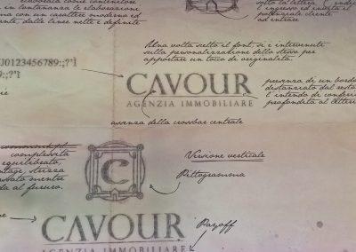 Immagine pubblicitaria riprodotta da vecchia foto ed applicata in parete dall'Agenzia immobiliare Cavour a Lavagna (GE) (1)
