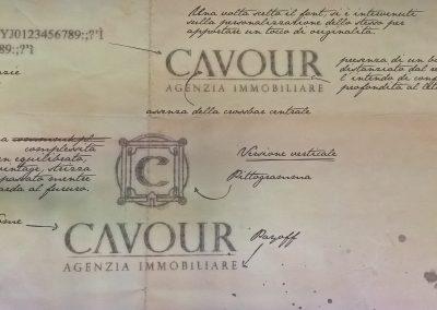 Immagine pubblicitaria riprodotta da vecchia foto ed applicata in parete dall'Agenzia immobiliare Cavour a Lavagna (GE) (2)