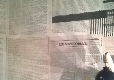 Parete giornali antichi da FORMA design makers a Chiavari (7)
